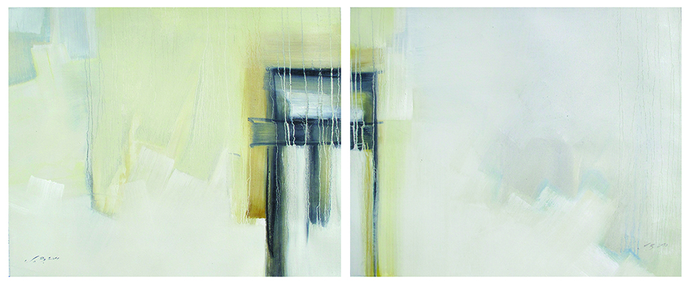 3Composition of Silence diptych 60x70 both oil on canvas 2010