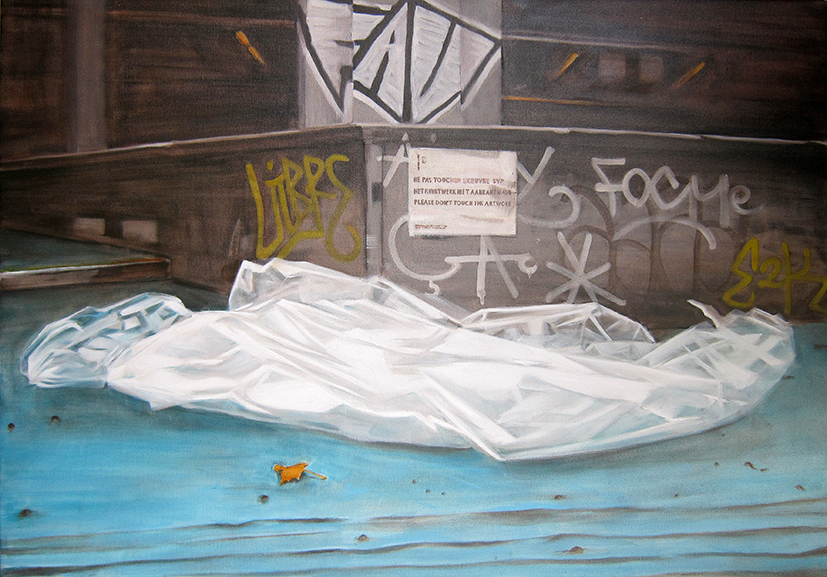 Chapelle railwaystation Brussels infront 70x100 oil on canvas 2015 small